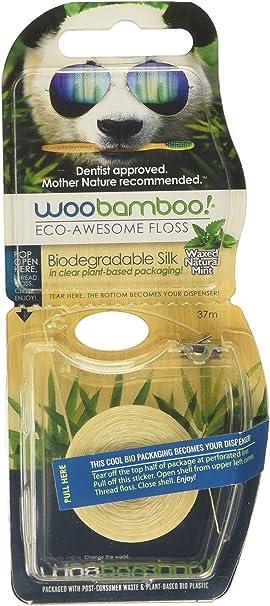 Hilo dental biodegradable WooBamboo, con seda, cera de abeja ...