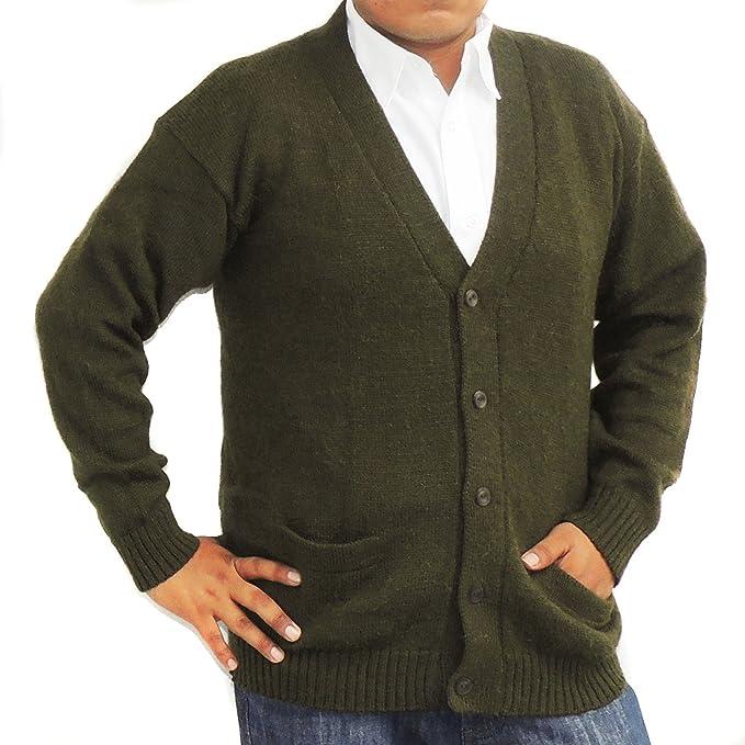 Amazon.com: Alpaca chaqueta de punto Sweater de golf jersey ...
