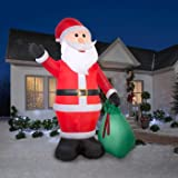 gemmy 39845 airblown santa gift sack christmas - Huge Inflatable Christmas Decorations