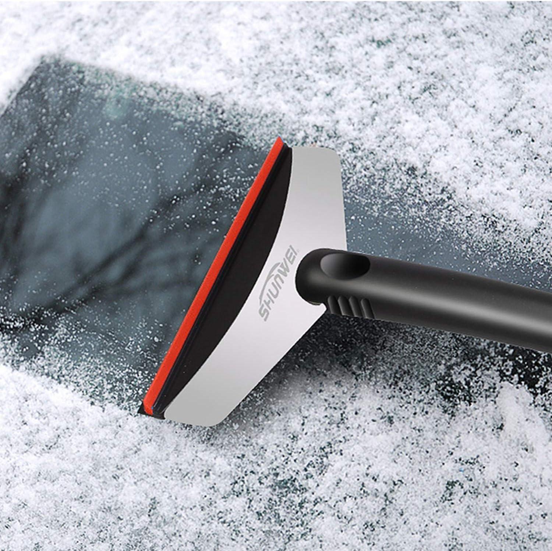 finestrini laterali in plastica ABS e robusto acciaio inossidabile. parabrezza Raschietto per ghiaccio lunotto posteriore passaneve raschietto per auto auto raschietto per ghiaccio Sylanda