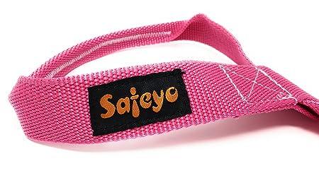 safeyo correa para transportar esterillas de yoga (Sling – Durable – trabillas de algodón – 66 pulgadas ajustable para todos los tamaños