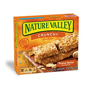 Nature Valley Granola Bars, Crunchy, Peanut Butter, 1.49 Ounce, 12 Bars (12 Boxes)