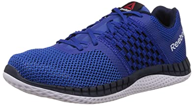 Reebok Mens Zprint Run Blue, Dark Blue and White Running Shoes - 10 UK