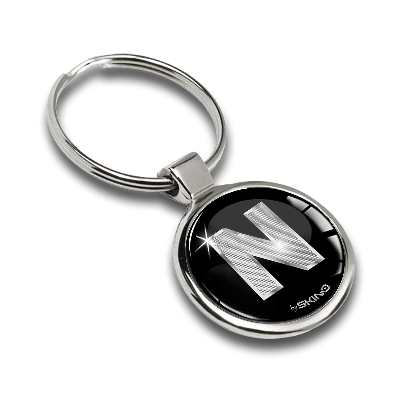 Keyring Letter A-Z Initials Alphabet Key Ring Accessories Men Women Key Chain Gift Letter Silver N KK 14