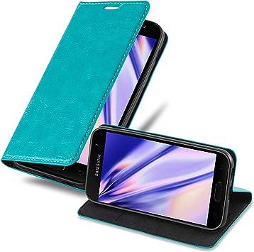 Cadorabo Funda Libro para Samsung Galaxy A5 2017 en Turquesa ...