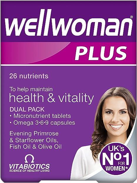 Vitabiotics Wellwoman Plus Omega 3 6 9 56 Comprimes Amazon Fr