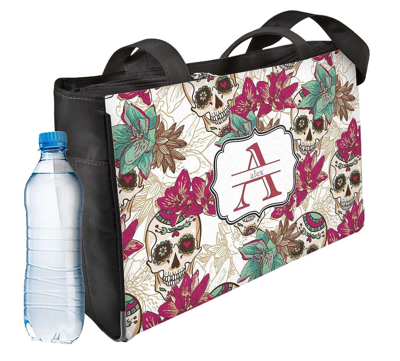 Personalized Front /& Back Sugar Skulls /& Flowers Ladies Workout Bag