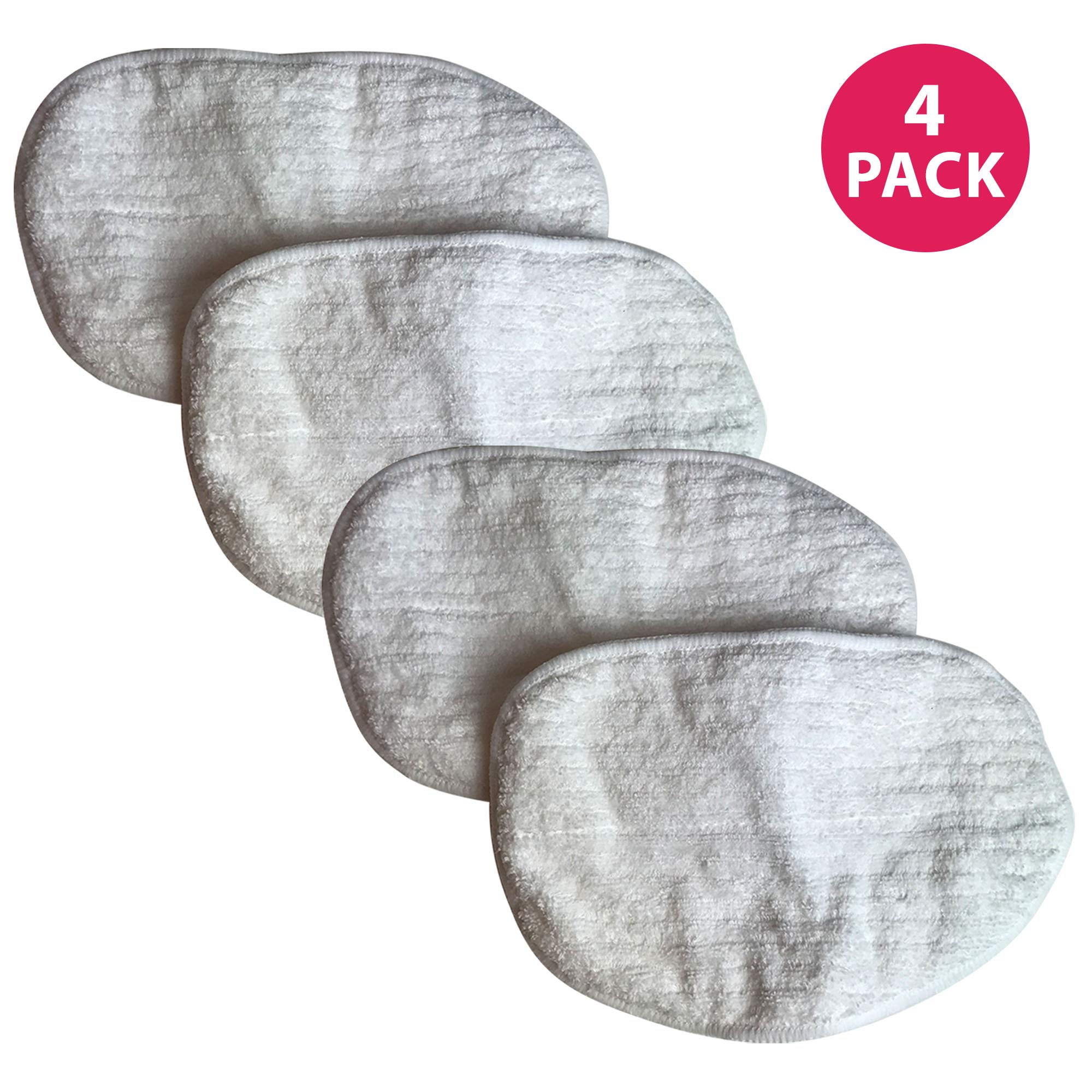 Think Crucial Replacement Mop Pads Compatible with Bissell Replacement Microfiber Steam Mop Pad Parts - Hardwood Mop Head Part - Parts 203-2158, 2032158, 3255, 32525 Model 1867 - Bulk (4 Pack)