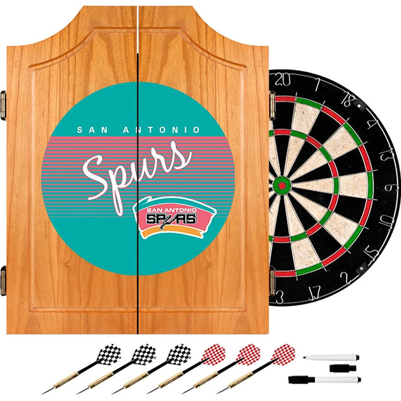 NBA San Antonio Spurs木製Dartキャビネット、1サイズ、ブラウン   B00QZCS1K8