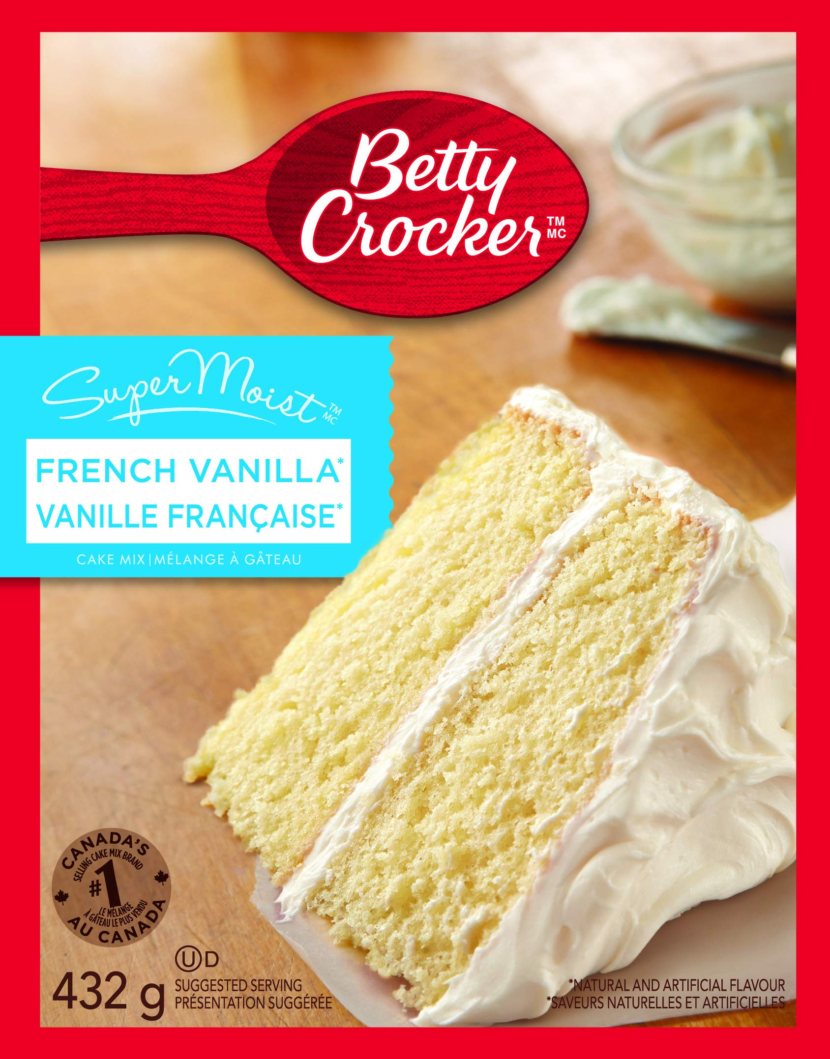 Betty Crocker Super Moist French Vanilla Cake Mix 432 Grams / 15.25 Oz - 4 Packs by Betty Crocker
