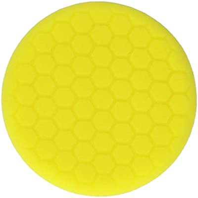 Chemical Guys BUFX_101_HEX Hex-Logic Self-Centered Heavy Cutting Pad, Yellow (7.5 Inch Fits 7 Inch Backing Plate): Automotive