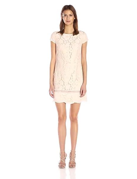 Vince Camuto Womens Lace Shift Dress