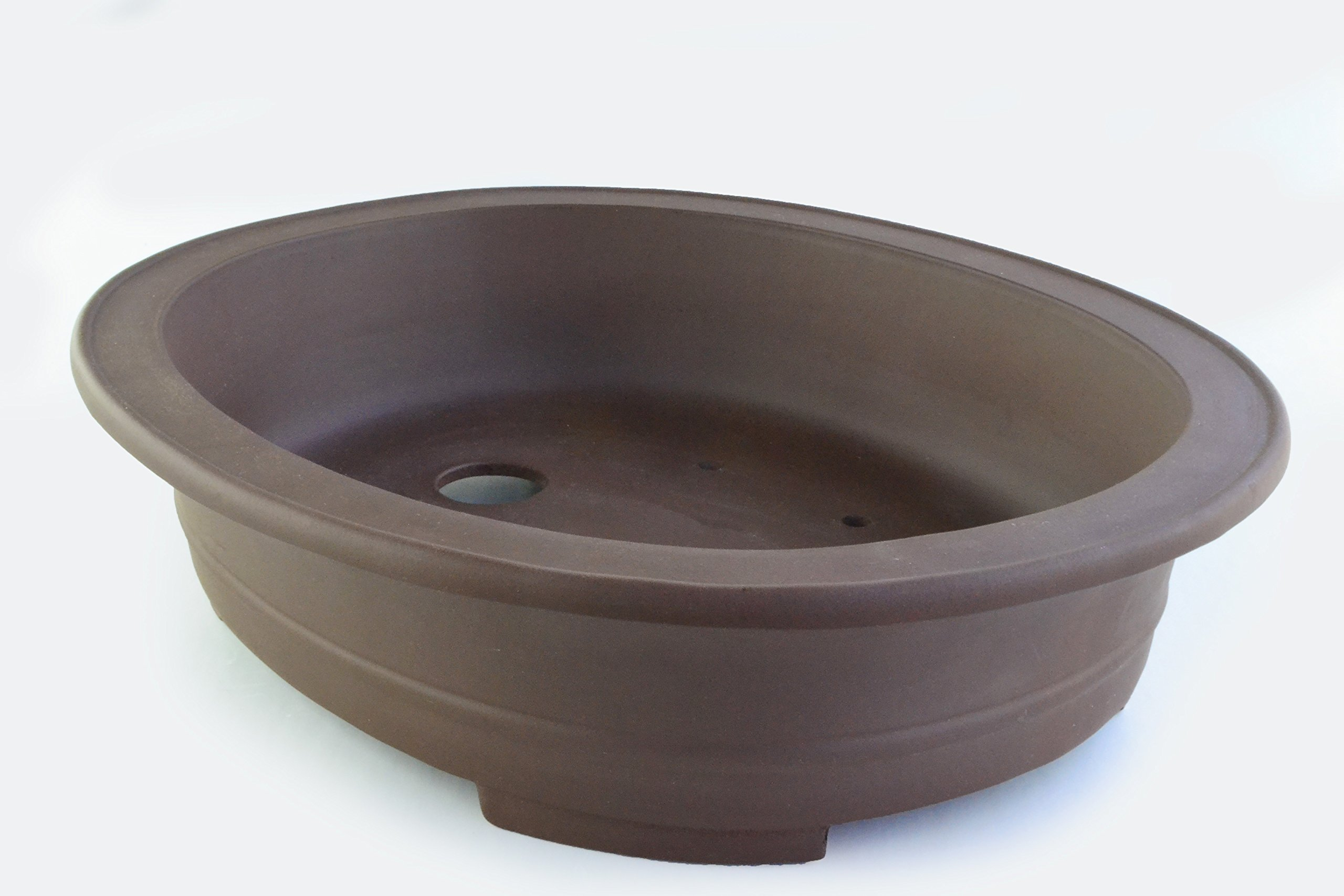Large Unglazed 24'' Oval Yixing Purple Clay Ceramic Bonsai Pot(PB2-24)