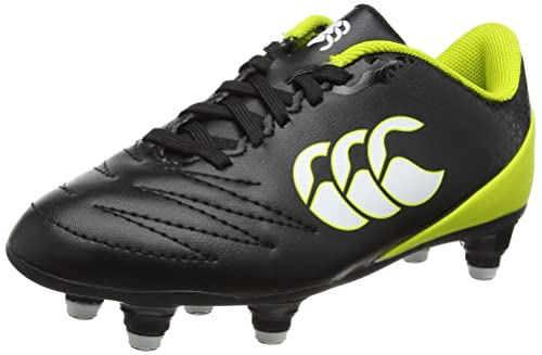 Canterbury Stampede 2.0 Soft Ground Zapatillas de Rugby Niños, Negro (Black), 33 EU
