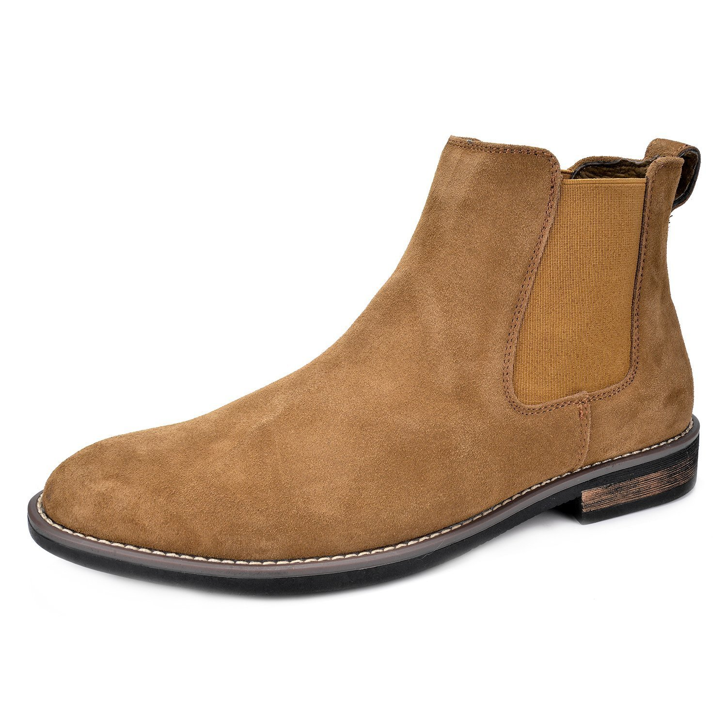 Bruno Marc Men's Urban-06 Tan Suede Leather Chukka Ankle Boots - 12 M US