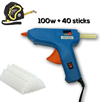 Toolscentre TC-60 100W Glue Gun Multi Combo with Free 40 Pieces Glue Sticks and 3Mtr Measuring Tape, Blue