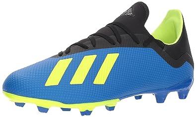 a2331c6b60093f adidas Men's X 18.3 Firm Ground Soccer Shoe, Football Blue/Solar Yellow /Black