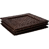 Chargeit by Jay Square 13-Inch Rattan Plates