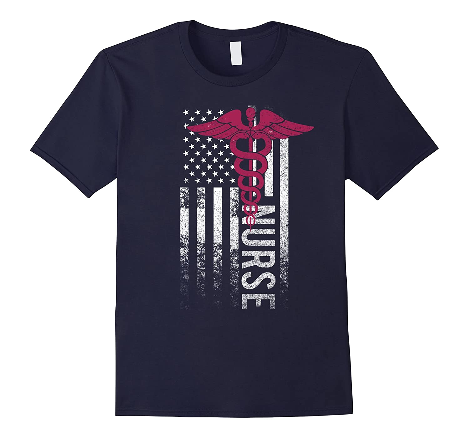 American Nurse Flag Doctor Proud Nation Freedom Lover Shirt-BN