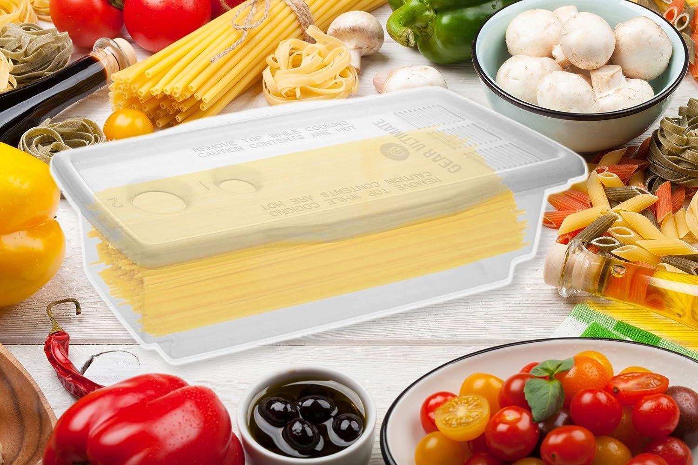 Accesorio para microondas para cocción de pasta, con libro de ...