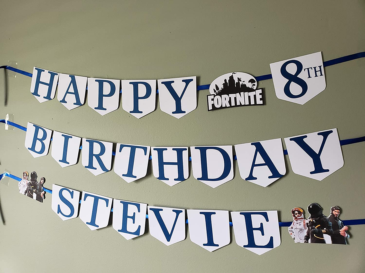 Fortnite birthday banner fortnite party decor