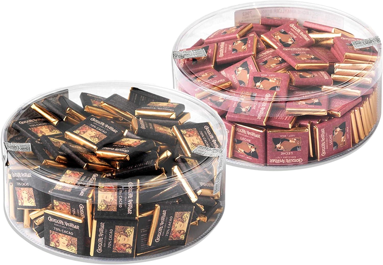 PACK CHOCOLATES NAPOLITANAS 300 UNIDADES 5g./u. (70% cacao y con leche) AMATLLER: Amazon.es: Alimentación y bebidas