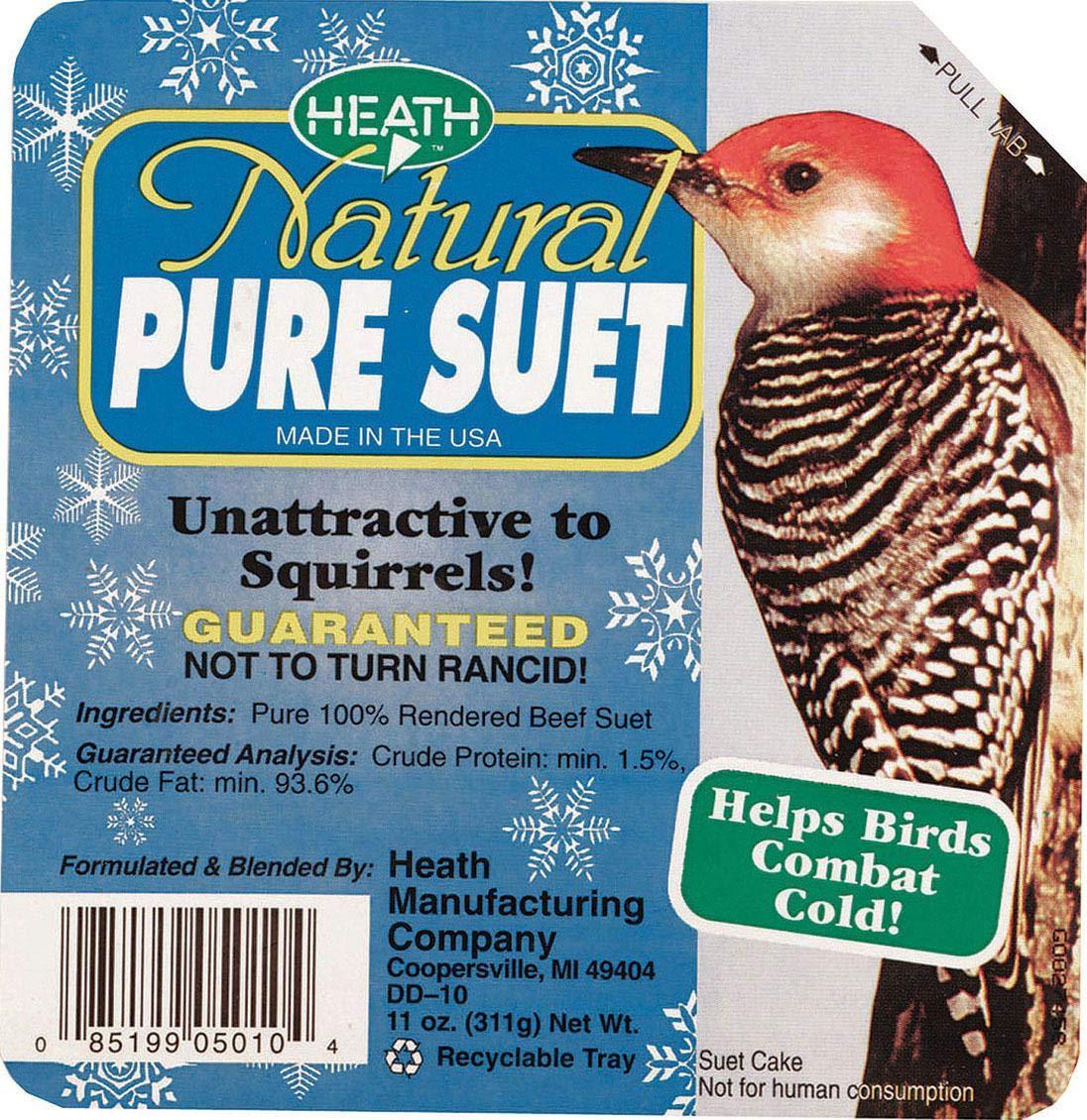 Heath Natural Pure Suet Cake - 11.5 Oz Bradley Caldwell BC296740
