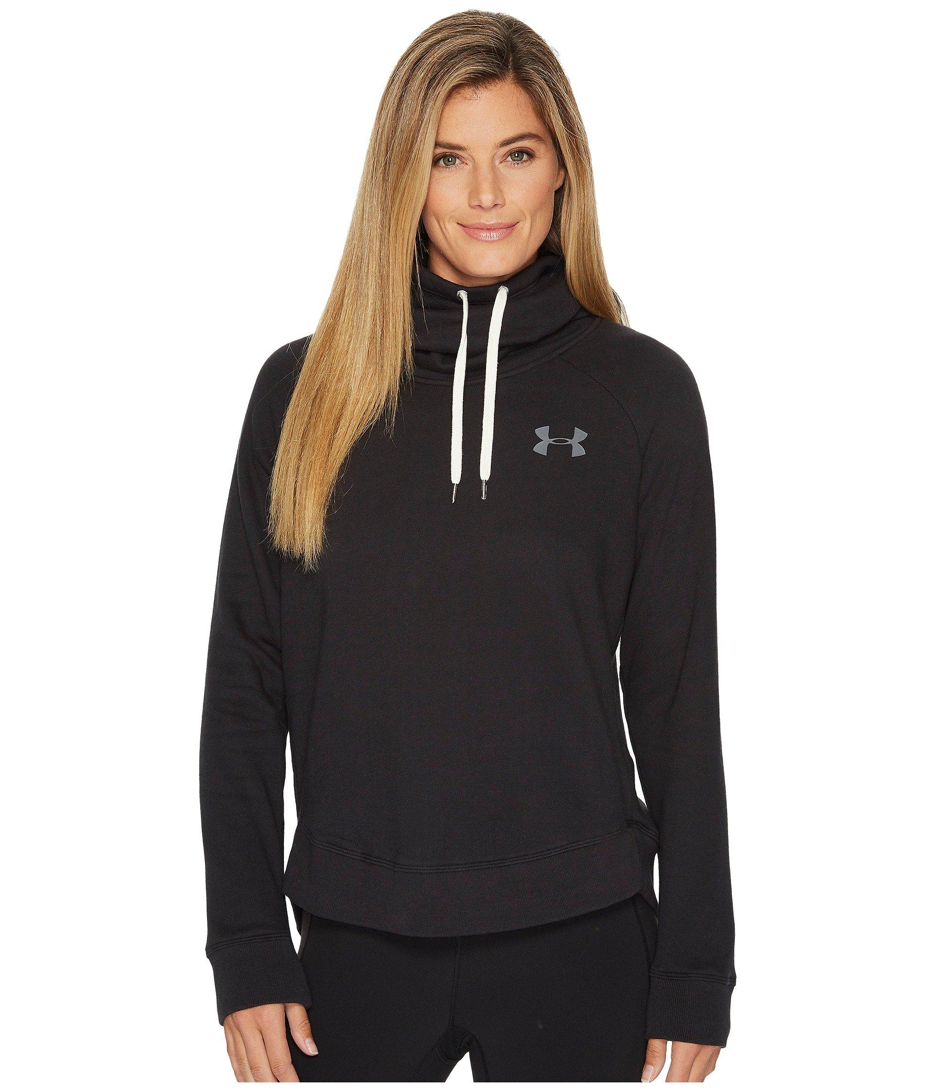Under Armour Women's Novelty Favorite Pull Over Left Chest Jacket, Black /Graphite, Large