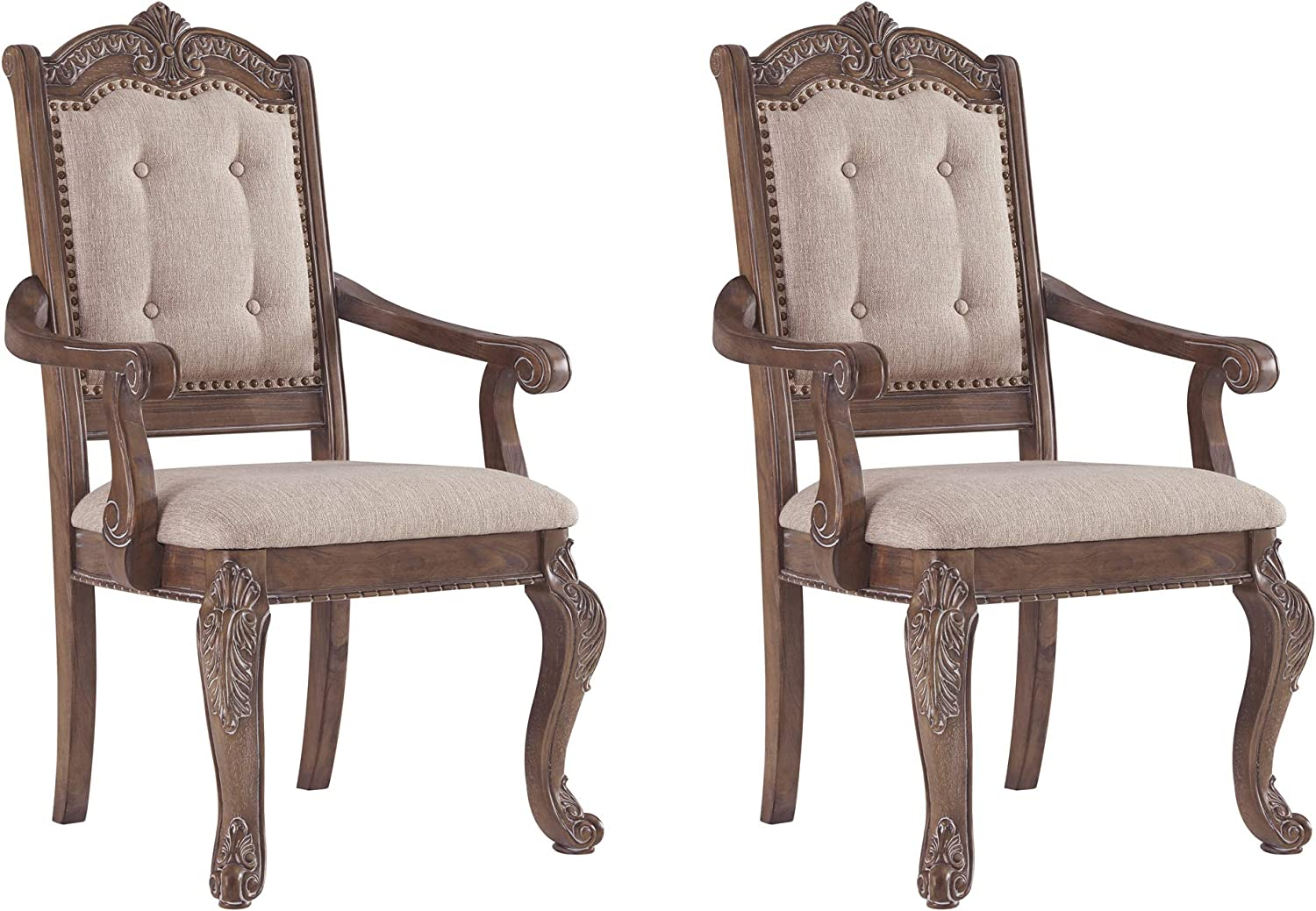 Signature Design By Ashley Charmond Dining Room Chair Brown Furniture Decor Amazon Com