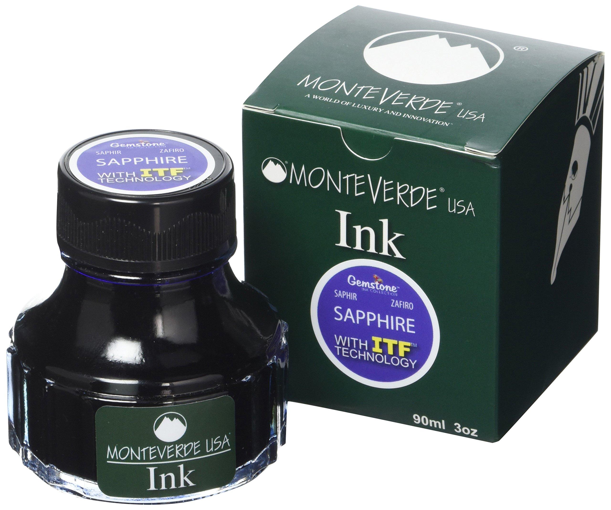 MONTEVERDE Bottle Ink, 90ml, Sapphire (G308SA)
