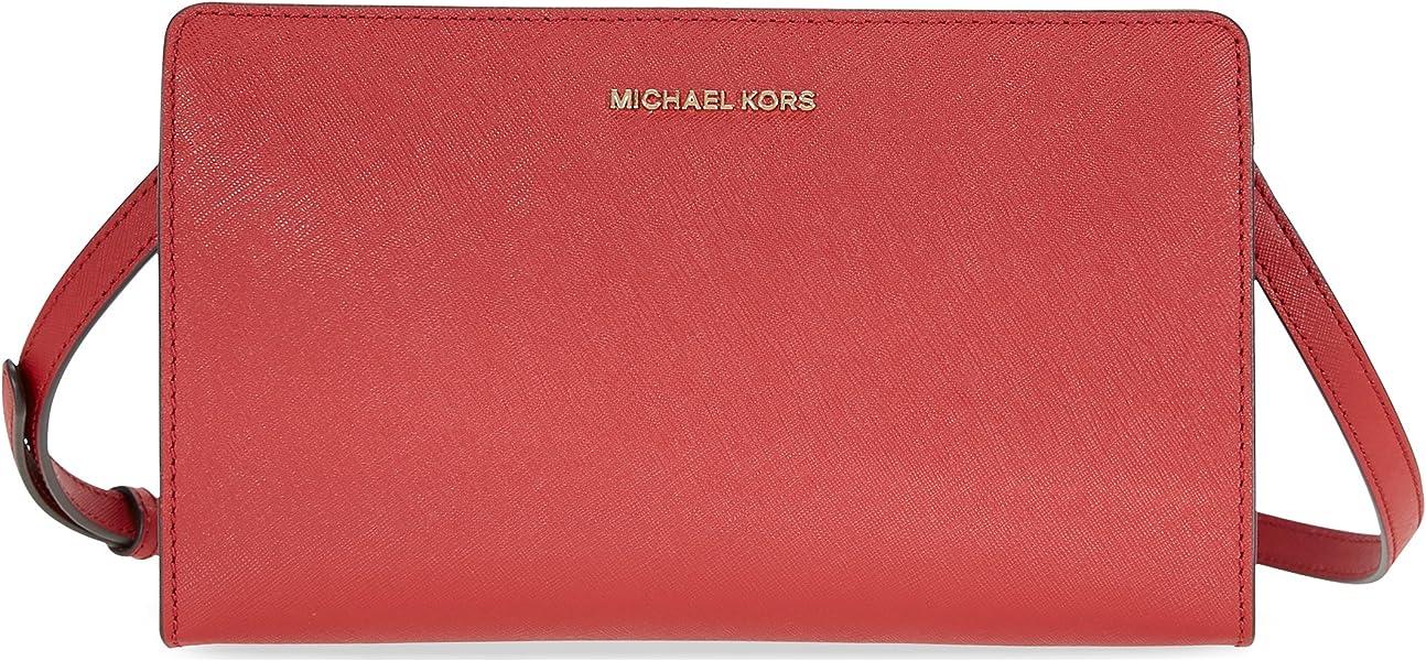 eb7af612a244 Michael Kors Jet Set Large Crossbody Clutch - Burnt Red: Handbags ...