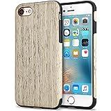 TENDLIN Cover iPhone 7 Legno Ibrida Silicone TPU Flessibile Custodia, Nordic Noce