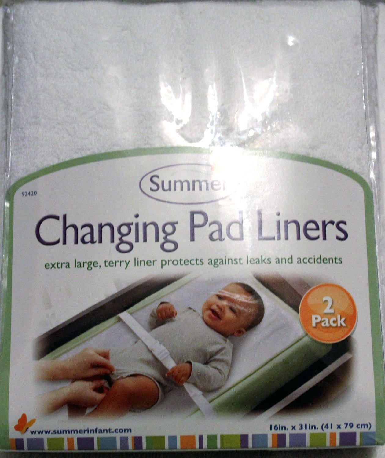 Summer Changing Terry Pad Liners (2 Pack)