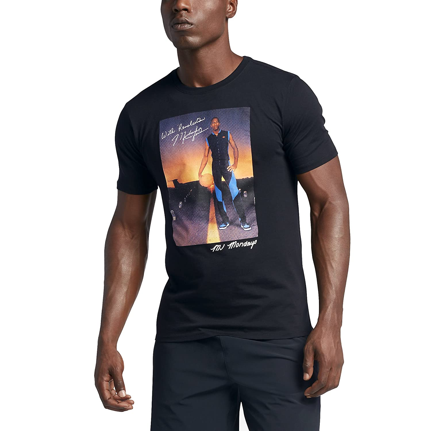 43e1a269d0a Jordan MJ MONDAY'S TEE mens workout-and-training-shirts 801603 at Amazon Men's  Clothing store: