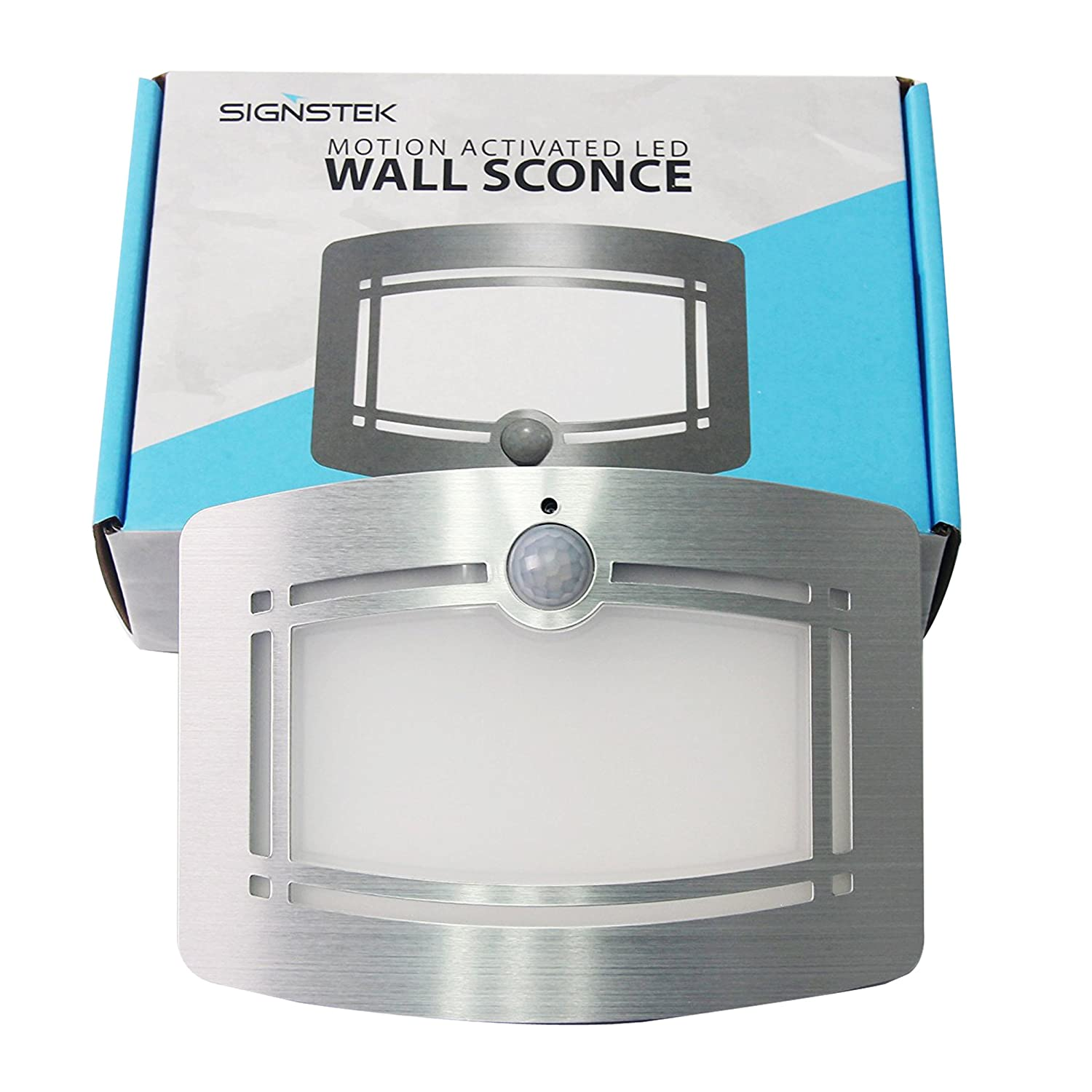 Signstek 10 Led Wireless Light Operated Motion Sensor Activated Wiring For Wall Sconce Battery