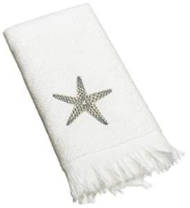 Avanti Linens By The Sea Fingertip Towel, White