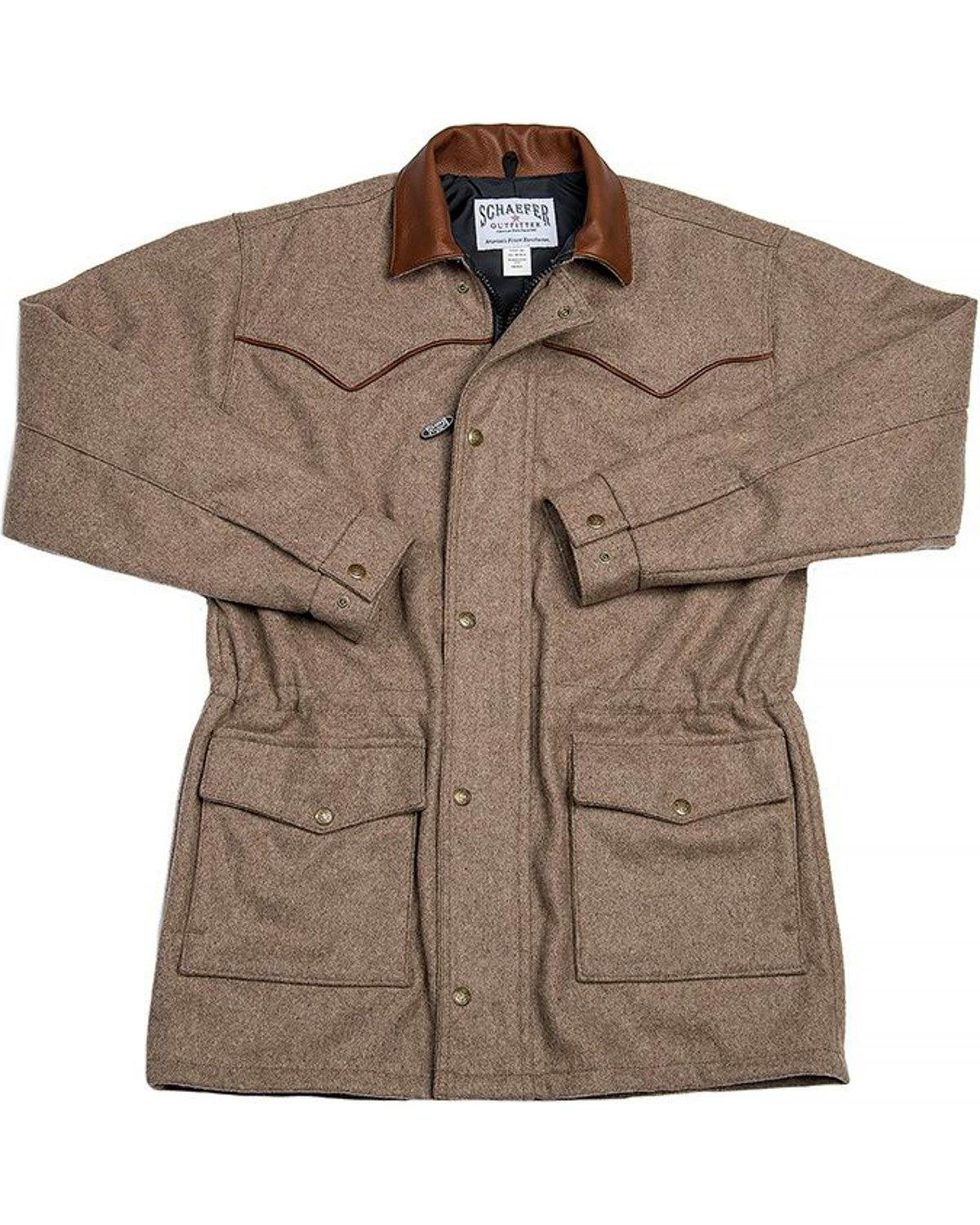 Schaefer Outfitter Men's 220 Wool Big Country Rancher Coat Taupe Large
