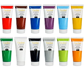 Creative Deco Peinture Acrylique Xxl Lot 12 Grands Tubes 100 Ml