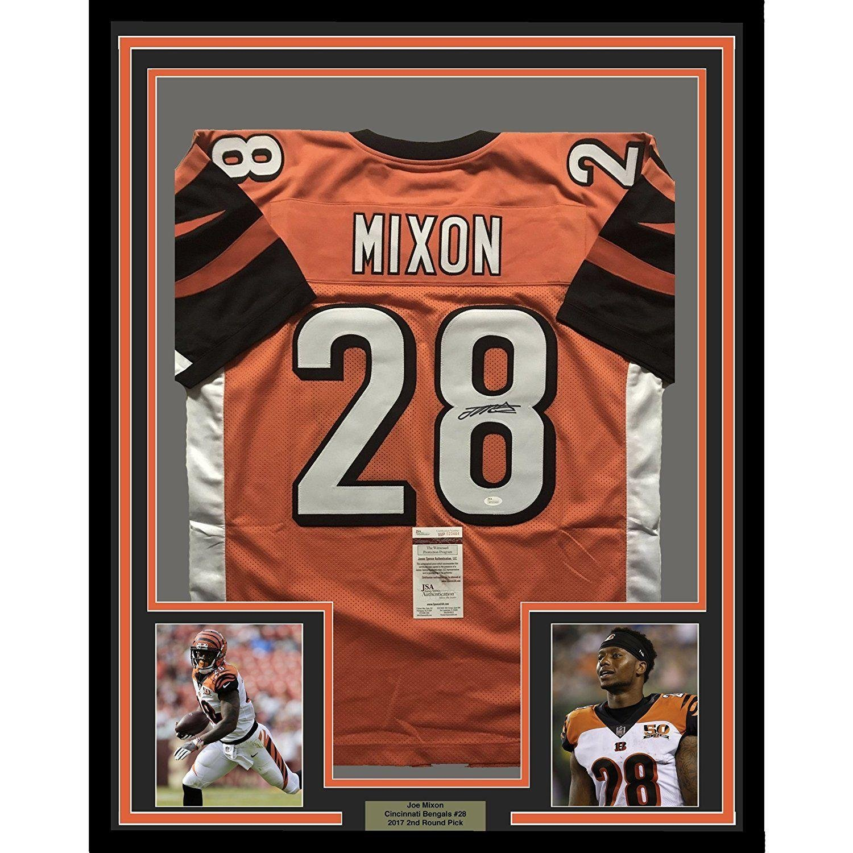 6cc3731bce9 Amazon.com  Signed Joe Mixon Jersey - FRAMED 33x42 Orange COA - JSA  Certified - Autographed NFL Jerseys  Sports Collectibles