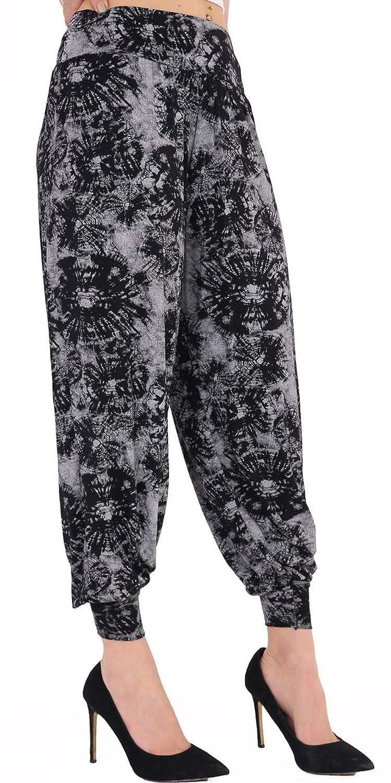 Womens Ladies Floral Print Ali Baba Hareem Loose Baggy Pants Long Harem Trousers