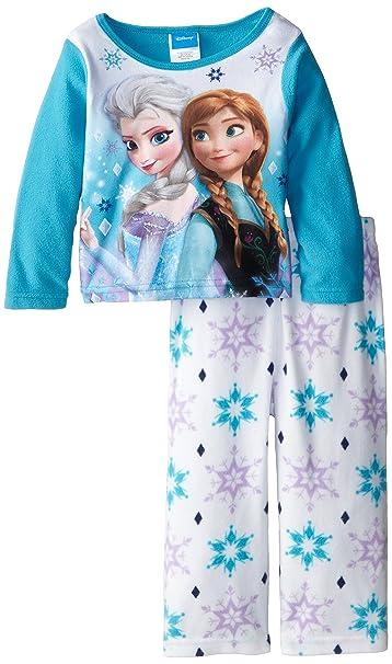 a979adf33a Disney Little Girls  Infantil con Forma de Frozen Anna y Elsa Acogedor Polar  Juego de Pijama  Amazon.es  Ropa y accesorios