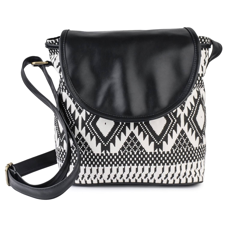 Lychee Bags Women's Sling Bag (Black,Lb14Atb.): Amazon.in ...