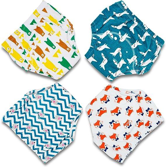 Flyish Packung mit 6 Baby Trainingshosen T/öpfchen Unterw/äsche Kleinkinder Windelhosen Toilettentraining Unterw/äsche Entz/ückende Tiermuster Trainingshose
