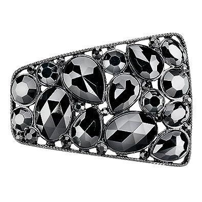 a1c8cf701149 Black Stone Shoe Clips (Pair)  Amazon.co.uk  Shoes   Bags