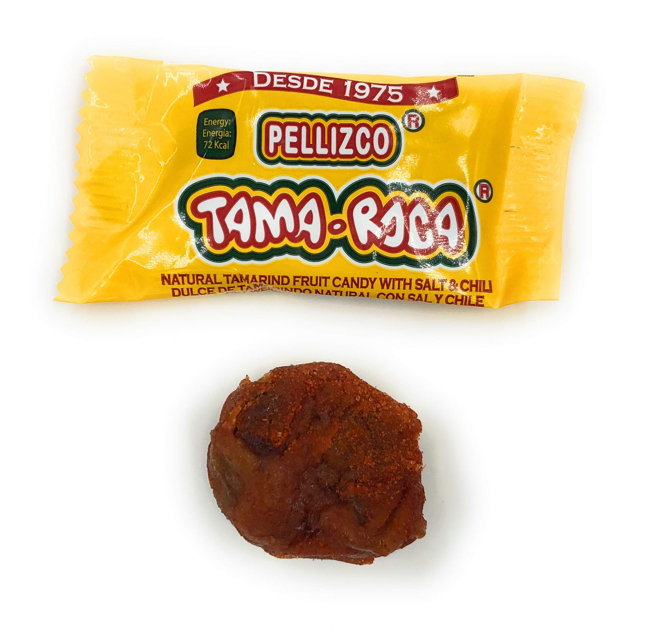 Tama Roca Pellizco Natural Tamarind Candy with Salt and Chili 40 Count (28.2 Ounce Pack)