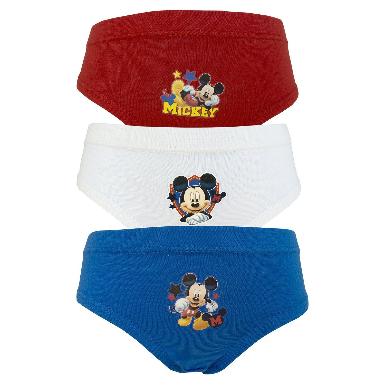 A_M_A_Z_I_N_G 3 Pack Boy's Official Printed Favourite Character Briefs Age's 18 Months To 8 Years PAW Patrol Toy Story Mickey Mouse Disney Night Garden Teletubies Nickelodeon Mickey 2)