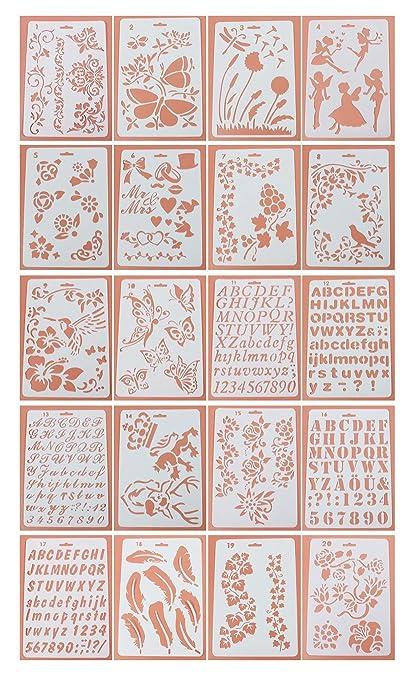 NectaRoy Plantillas de Dibujo de plástico, Plantillas para ...