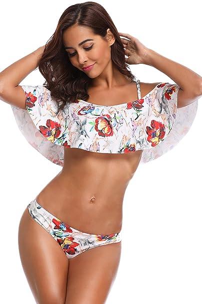224200713b32 MEMORY BABY Bikini Mujer Sexy Push Up Bañador Cintura alta Traje de baño  con Tirantes Extraíble: Amazon.es: Ropa y accesorios