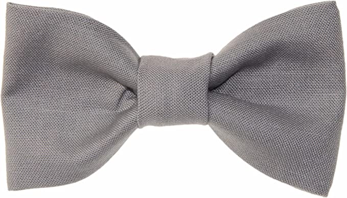 Handmade Grey Pre-tied Clip on Bow Tie for Baby//Toddler