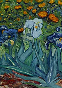 Toland Home Garden Van Gogh's Iris 28 x 40 Inch Decorative Spring Flower Classic Painting House Flag
